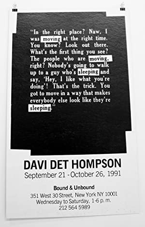 Davi Det Hompson: September 21 - October 26, 1991