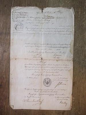Untauglichkeitsbescheinigung für den Militärpflichtigen Ferdinand Peter Friedrich: May, Ferdinand Peter