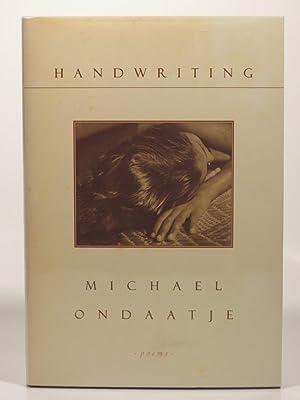 Handwriting: Ondaatje, M.
