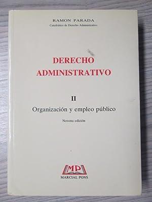DERECHO ADMINISTRATIVO:ORGANIZACION Y EMPLEO PUBLICO: RAMON PARADA