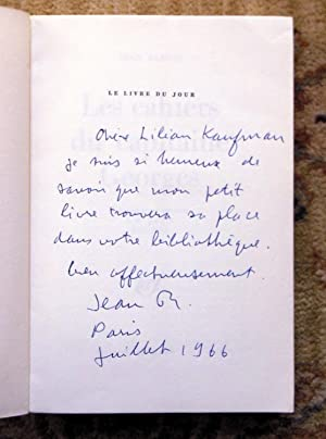 "JEAN RENOIR - SIGNED & INSCRIBED First Edition ""LES CAHIERS DU CAPITAINE GEORGES"" - SIGNED & INSC..."