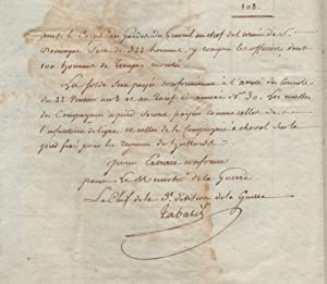 [The organization of the General Corps of Saint-Domingue.] Extrait de l'arrêté de Consule en date...