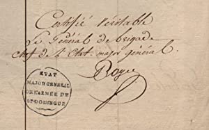 Register of deceased of the French Army in Saint-Domingue