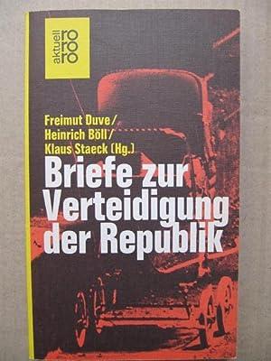 Bild des Verkäufers für Briefe zur Verteidigung der Republik. zum Verkauf von Antiquariat Schröter -Uta-Janine Störmer