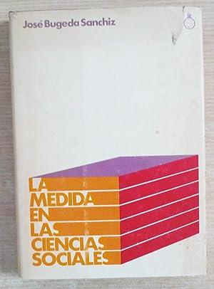 La medida en las ciencias sociales: Bugeda Sanchiz, José