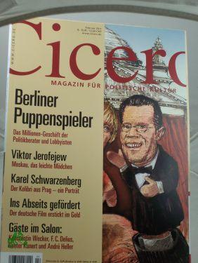 2/2011, Berliner Puppenspieler: Cicero, Magazin für