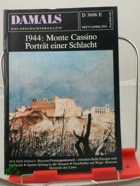 4/1984, 1944 Monte Cassino Porträt einer Schlacht: DAMALS, Das Geschichtsmagazin