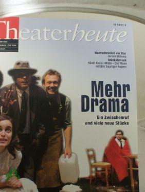 12/2003, Mehr Drama: THEATER HEUTE, Zeitschrift