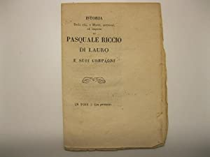 Istoria della vita, e morte, uccisioni ed imprese di Pasquale Riccio di Lauro e suoi compagni: 0