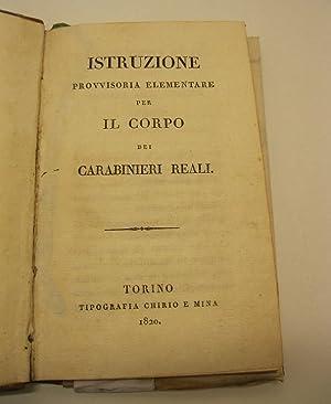 Istruzione provvisoria elementare per il corpo dei carabinieri reali: 0