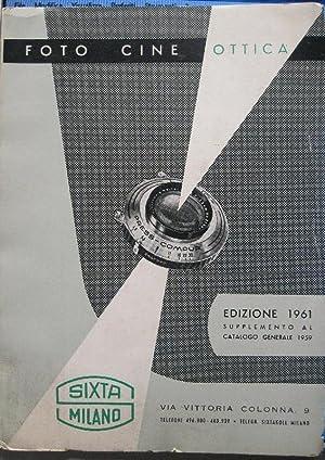 Foto cine ottica Sixta. Edizione 1961, supplemento al catalogo generale 1959: Anonimo