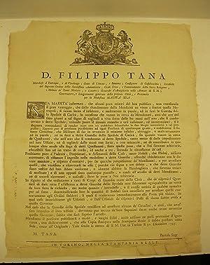 D. Filippo Tana Marchese d'Entraque, e di Verolengo, Conte di Limone e Santena.: 0