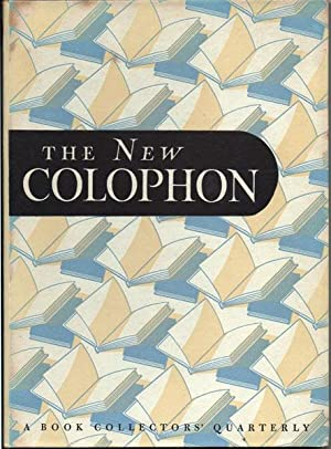 The New Colophon. A Book Collectors' Quarterly. Volume 1, Part Four, published October 1948.
