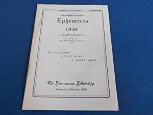 Simplified Scientific Ephemeris 1948 With Daily Aspectarian: Also Monthly Position of Pluto - An ...