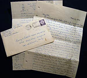 1956 Letter from a Serviceman Stationed at Corry Field Pensacola Florida U.S. Navy Training Center ...