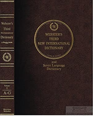 Seller image for Websters Third New International Dictionary Of the English Language unabridged with seven language dictionary for sale by Leipziger Antiquariat e.K.