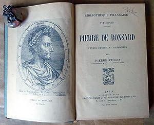 Pierre de Ronsard. Textes Choisis et Commentés par Pierre Villey.: Ronsard (Pierre de).