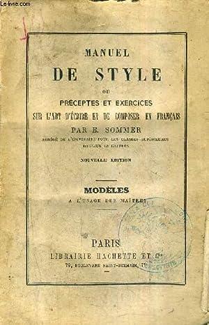 MANUEL DE STYLE OU PRECEPTES ET EXERCICES: E.SOMMER