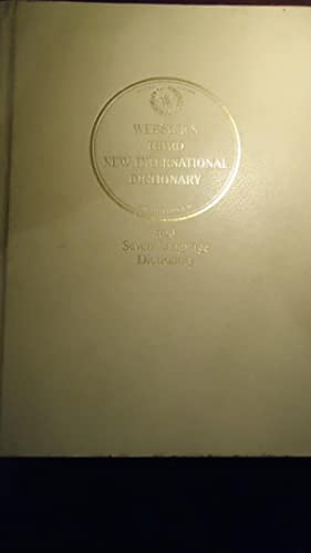 Seller image for WEBSTER'S THIRD NEW INTERNATIONAL DICTIONARY OF THE ENGLISH LANGUAGE UNABRIDGED WITH SEVEN LANGUAGE DICTIONARY. 3 VOLUMES for sale by Ernesto Julián Friedenthal
