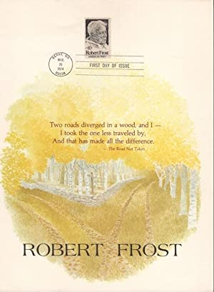 Robert Frost: Specially Imprinted Commemorative Stamp Portfolio for complimentary distribution to...