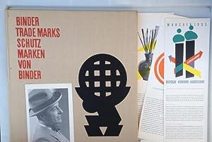 Binder Trade Marks Schutzmarken von Binder,: Binder, Josef,
