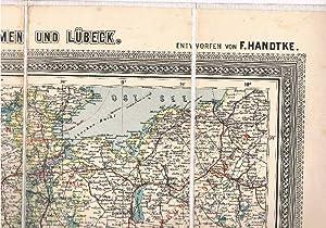Carl Flemmings Generalkarte No.13: Hannover, Oldenburg, Braunschweig, Lippe, Hamburg, Bremen und ...