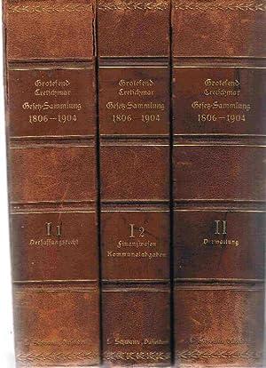 Preussisch-deutsche Gesetz-Sammlung 1806 - 1904 in systematischer Anordnung. Bd. I 1: ...