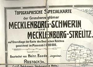 Topographische Special-Karte der Grossherzogthümer Mecklenburg-Schwerin und Mecklenburg-Strelitz ...