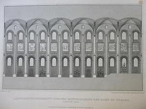 Längendurchschnitt durchs Mittelschiff des Doms zu Speier Orig Stahlstich Rhein Pfalz L.W. Bayrer ...