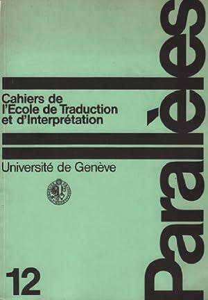 Parallèles / cahier n° 12 / école: Université De Genève