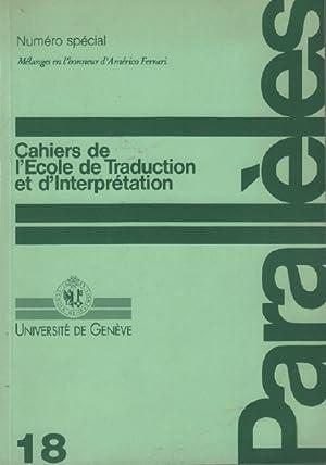 Parallèles / cahier n° 18 / école: Université De Genève