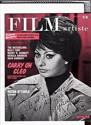 FILM ARTISTE Magazine. Volume 1. Number 4. 1964. Front cover: SOPHIA LOREN