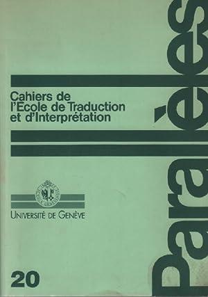 Parallèles / cahier n° 20 / école: Université De Genève