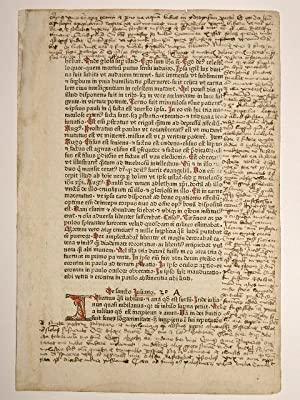Legenda aurea. (GWM 11313, C 6389) Folio: Jacobus de Voragine: