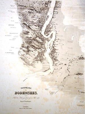 Bodensee-Panorama auf 10 Blätter, Originaltitel:PANORAMA des BODENSEES,: BRANDMAYER August Zeichner