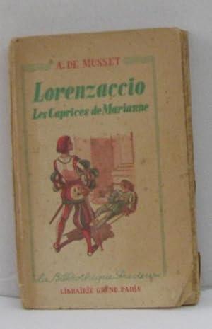 Image du vendeur pour Lorenzaccio les caprices de marianne mis en vente par crealivres