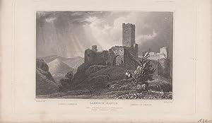 Lahneck Castle Orig Stahlstich Rheinland- Pfalz Tomblesons. del & H. Bond. sculp.