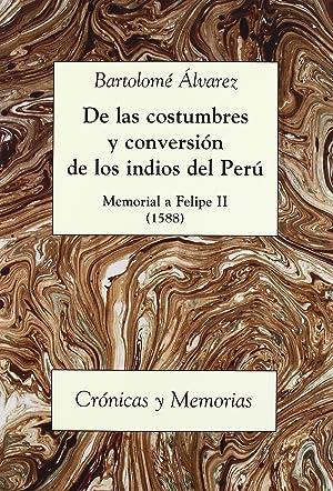 De las costumbres y conversion memorial a: Alvarez