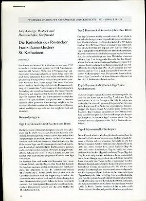 Die Konsolen des Rostocker Franziskanerklosters St. Katharinen.: Schäfer, Heiko und