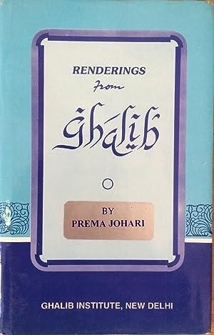 Seller image for Renderings from Ghalib for sale by Joseph Burridge Books