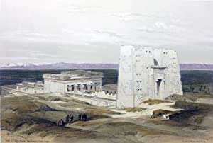 TEMPLE OF EDFOU, ANCIENT APPOLINOPOLOS. UPPER EGYPT: Roberts David; [Egypt]