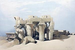 RUINS OF KOM OMBO [Being an Original: Roberts David; [Egypt]