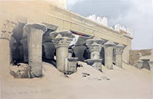 PART OF THE PORTICO OF EDFOU [An: Roberts David; [Egypt]