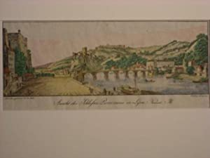 Lyon. `Ansicht des Schloßes Pierre encise in Lyon. Nordseite`.: Bollinger, F.: