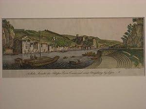 Lyon. `Südliche Ansicht des Schloßes Pierre Encise und seiner Umgebung bey Lyon`.: Müller, Karl: