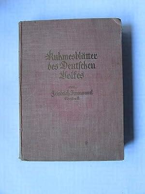 Ruhmesblätter des Deutschen Volkes: Immanuel, Friedrich: