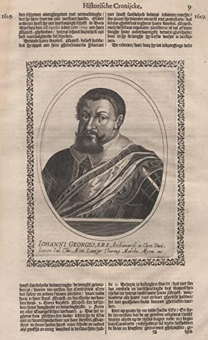 Dresden 05. 03. 1585 - 08. 10. 1656 Dresden). Kurfürst und Herzog von Sachsen. Er war der 2. Sohn ...