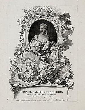 Isabella (Buen Retiro bei Madrid 31. 12. 1741 - 27. 11. 1763 Wien). Prinzessin von Bourbon-Parma. ...