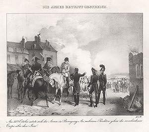 """Die Armee betritt Österreich. """"Am 25.ten October setzte sich die Aermee . Corps über den Inn&..."""