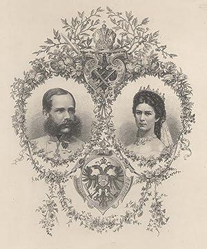Doppelportrait mit seiner Ehefrau Elisabeth v. Österreich( 24.12. 1837 - 10. 9. 1898 ), genannt &...